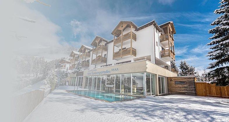 Wir liefern Ski ins Hotel Sonnenparadies